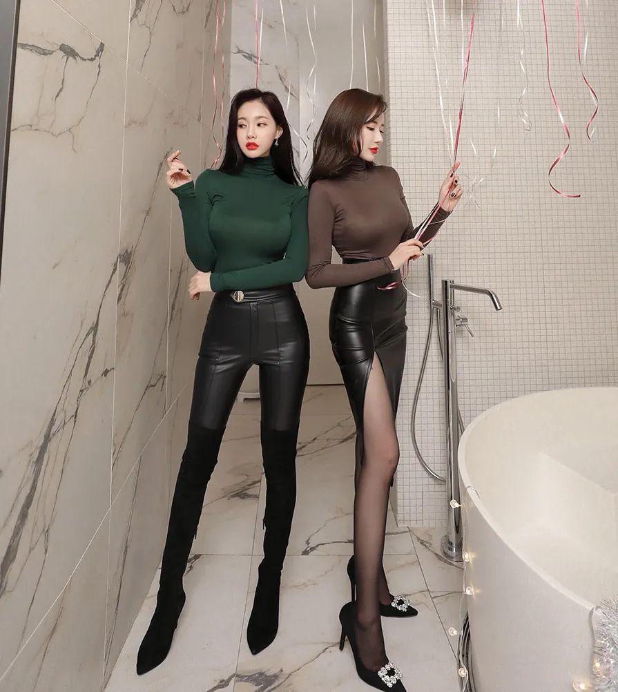 [街拍美女]皮裤和皮裙的冷酷范,在闺蜜之间却少了几分隔阂。2