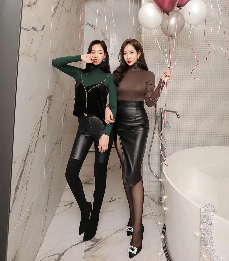 [街拍美女]皮裤和皮裙的冷酷范,在闺蜜之间却少了几分隔阂。1